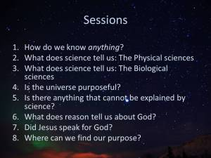 God science and purpose discussion series sessions